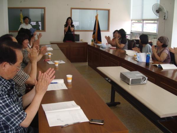 2012. 6. 21 관학연계 프로그램(즐거운문학산책) 수료식 개최